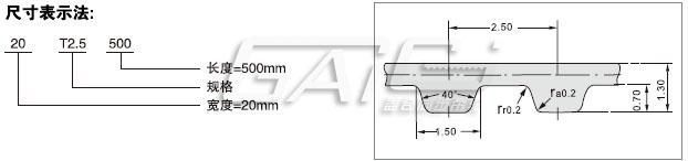 T2.5聚氨酯同步带