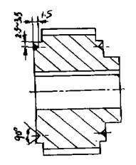 图 2 同步带挡圈轮简 图