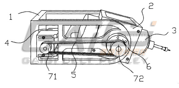 新型五轴数控非金属材料专用加工机床摆动机构的结构