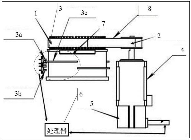 为本发明实施例中智能设备旋转角度检测装置的结构图