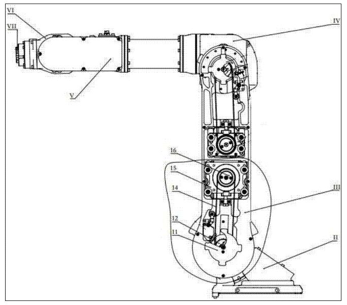 图4为本发明实施例机械臂的结构示意图